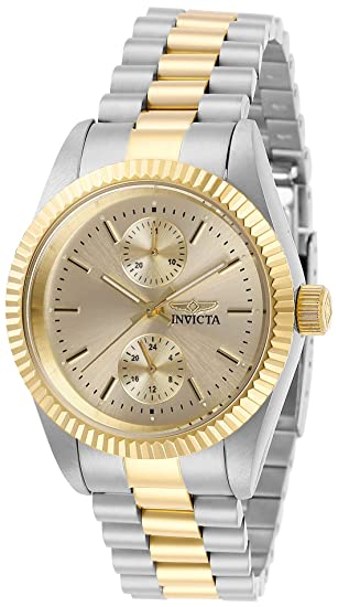 Invicta Womens Specialty Quartz Stainless-Steel Strap, Two Tone, 18 Casual Watch (Model: 29442)