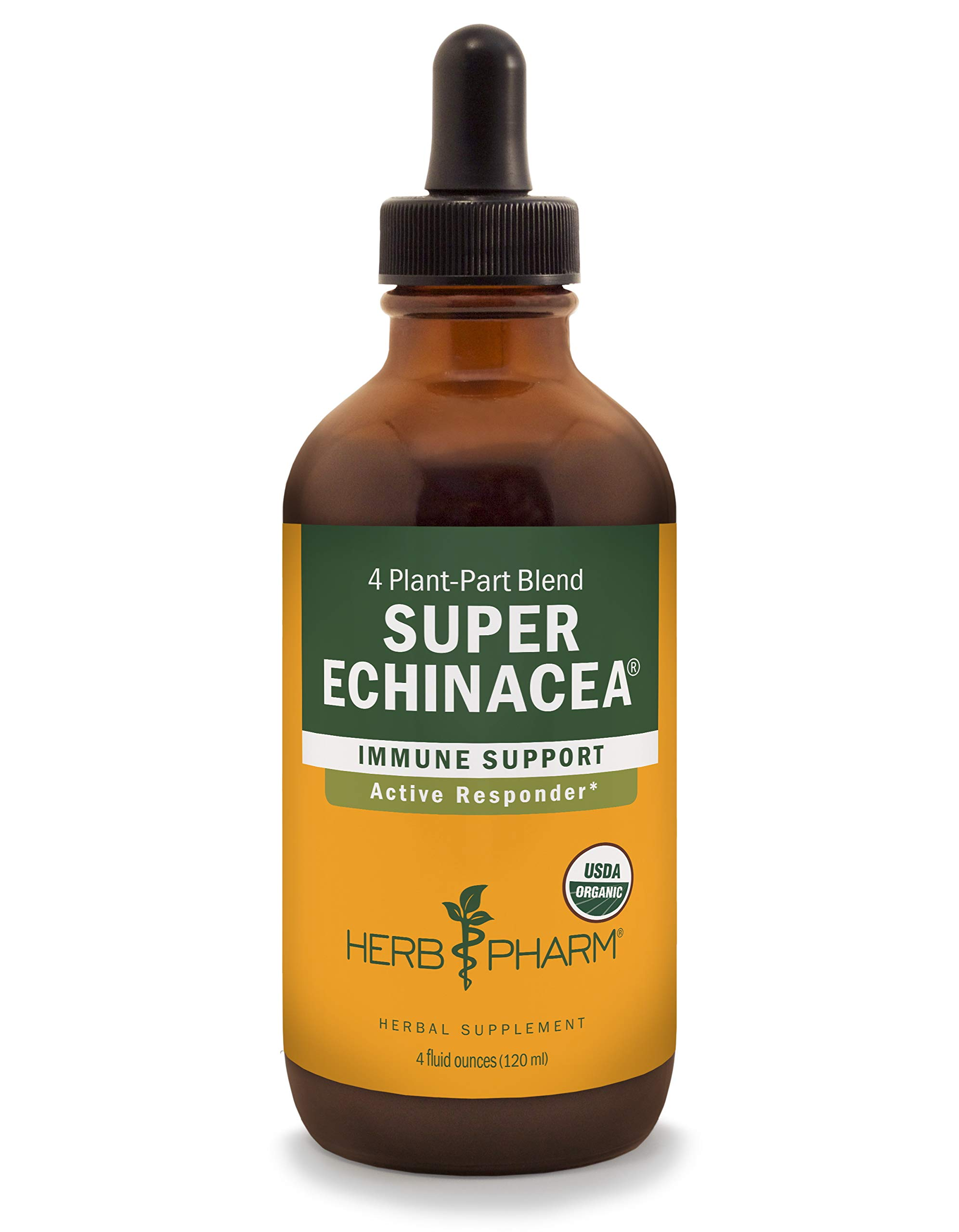 Herb Pharm Certified Organic Super Echinacea Liquid Extract for Active Immune System Support - 4 Ounce by Herb Pharm (Image #1)