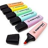 STABILO BOSS Original Pastel Highlighter Pens Highlighter Markers - Full Range Set of 6 in Wallet