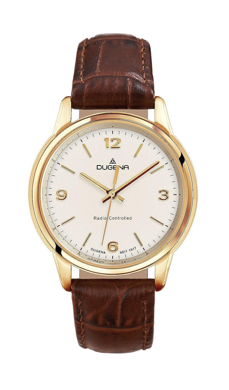 Dugena Damen-Armbanduhr Momentum XS - Funkuhren Analog Quarz Leder 4460640