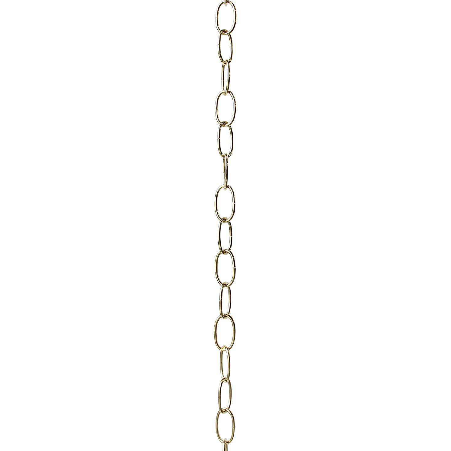 RCH Hardware CH-S56-12-SC-3 10 Gauge Decorative Solid Steel Standard Link Fixture Chain 3 Foot Increments Satin Chrome Finish