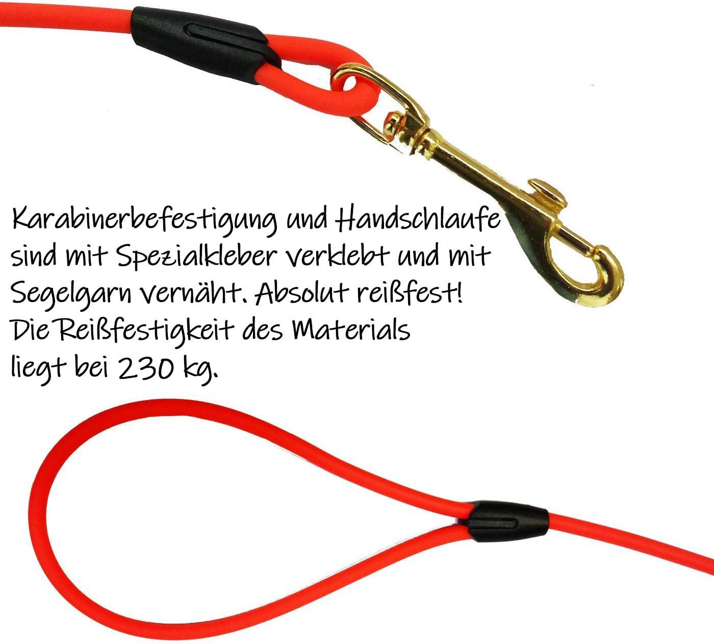 Sehr leichte Biothane Schleppleine f/ür Welpen und kleine Hunde 13 Farben mit Handschlaufe 3-15 Meter Welpenleine