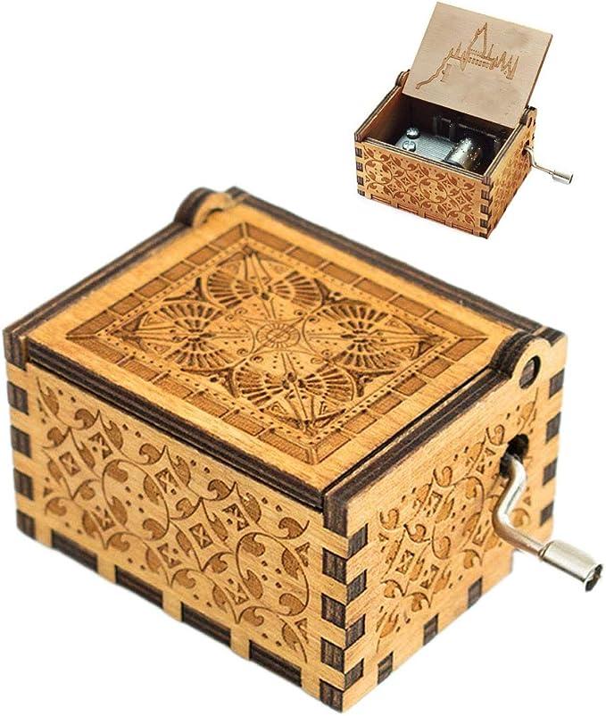 Evelure Caja de música Harry P Crank Music Boxes en Madera ...