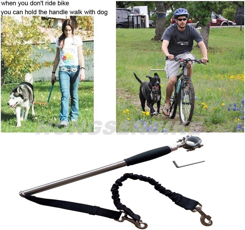 HONGSEN Teraysun in Acciaio Inox Bicicletta Cani guinzaglio Passeggio con Mani libere Pet Training Sport Piombo