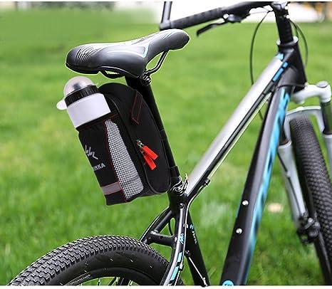 NewShot - Sillín de bicicleta con bolsillo para botella de agua para ...