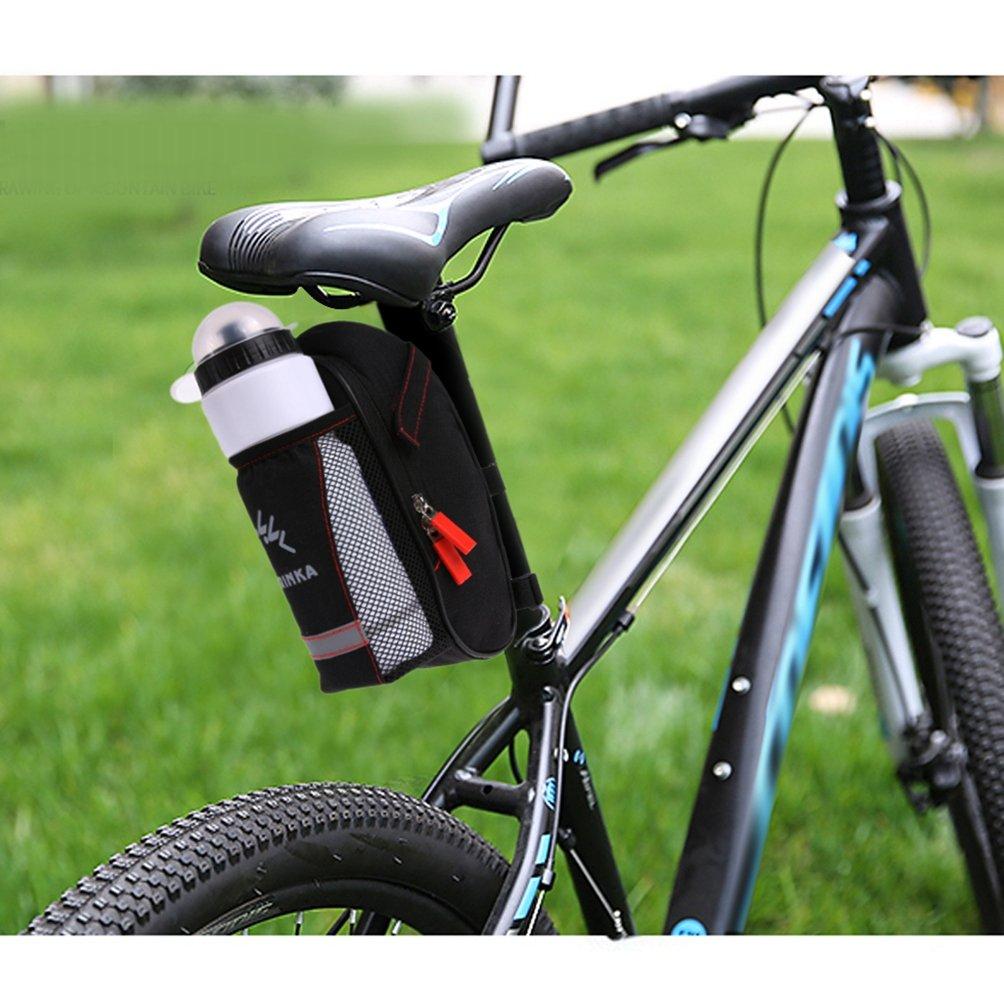 NewShot Sill/ín de bicicleta con bolsillo para botella de agua para bicicleta MTB