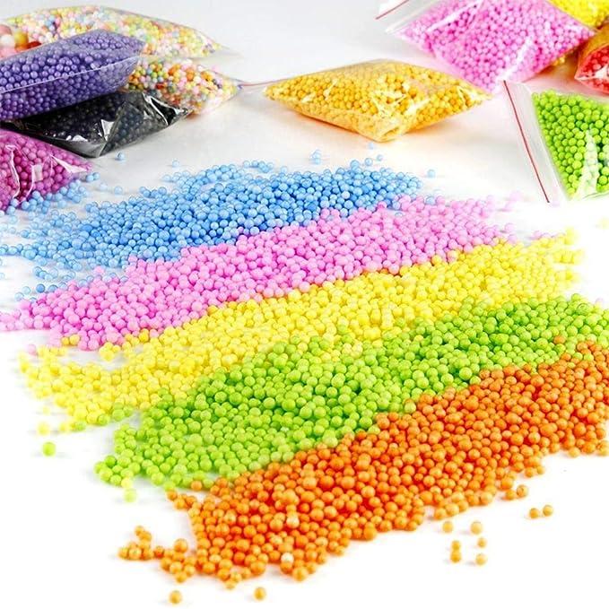 Kbsin212 60 Pcs Slime Kit DIY Slime Kit Incluyendo Bolas Espuma, Bolas pecera, Rebanadas, Papel de azúcar, Confeti (No Contiene Limo) Regalo Creativo ...