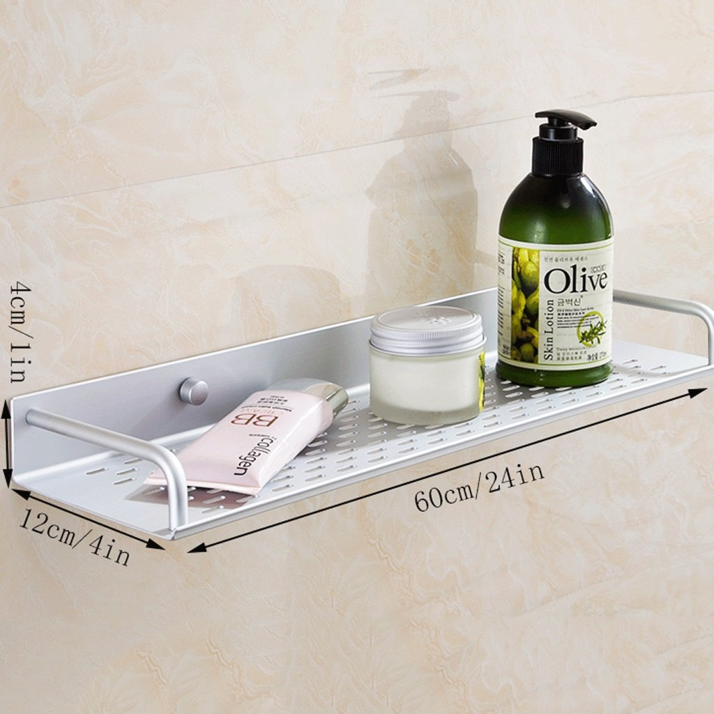 YXN Space Aluminum Bathroom Shelf Bathroom Hardware Accessories Single-layer Cosmetics Wall Mount Storage Rack (Size : 60cm)