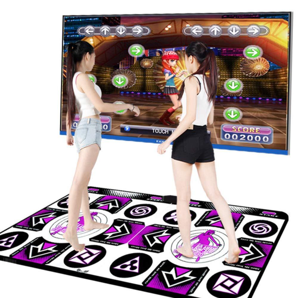 QXMEI Dance Mat Double TV Interface Computer Dual-use Somatosensory Game Console 48.534.511.5cm by QXMEI (Image #4)