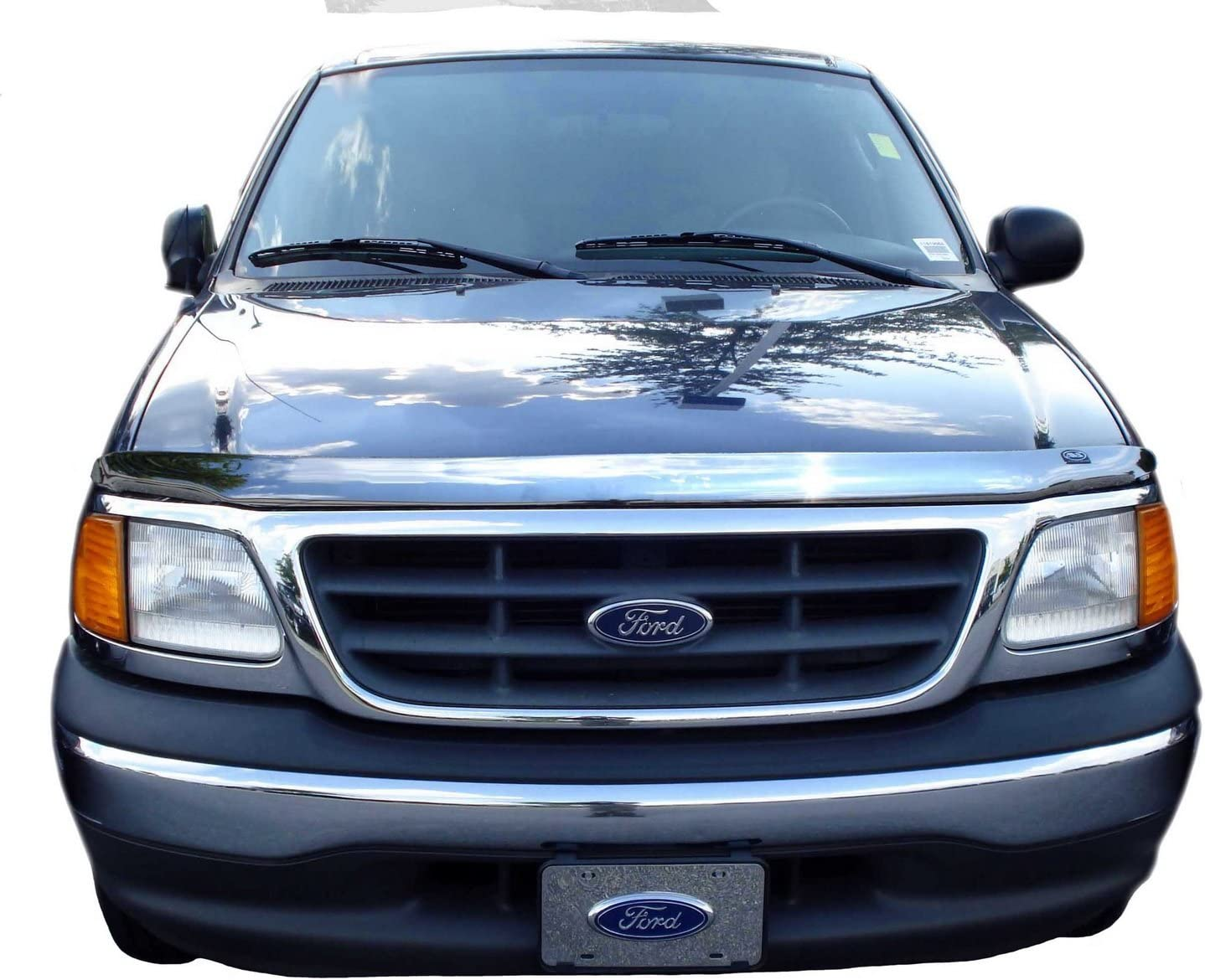 680513 AVS Bugflector Chrome Hood Protector Shield For 97-2002 Ford Expedition
