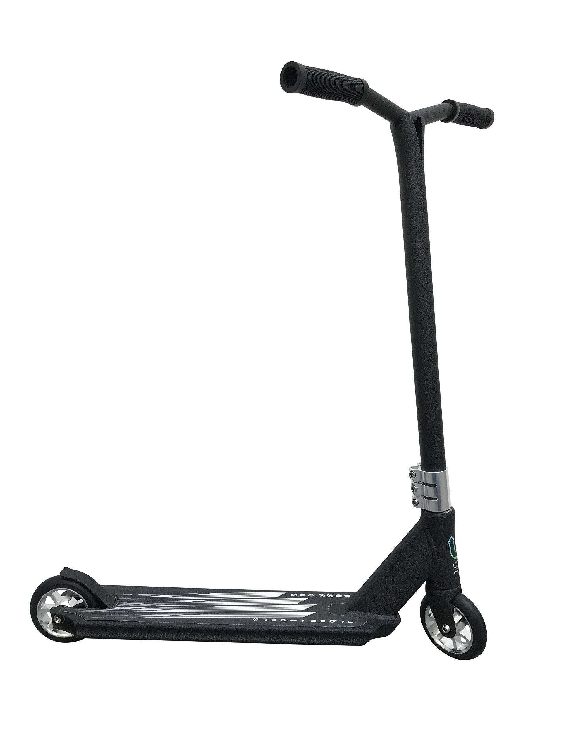 Urban Riders Boss 005 Pro Scooter | Chromoly Handlebar | HIC Compression System | 6061 T6 Aluminum Deck| Triple Clamp USA (Boss 005 Black)