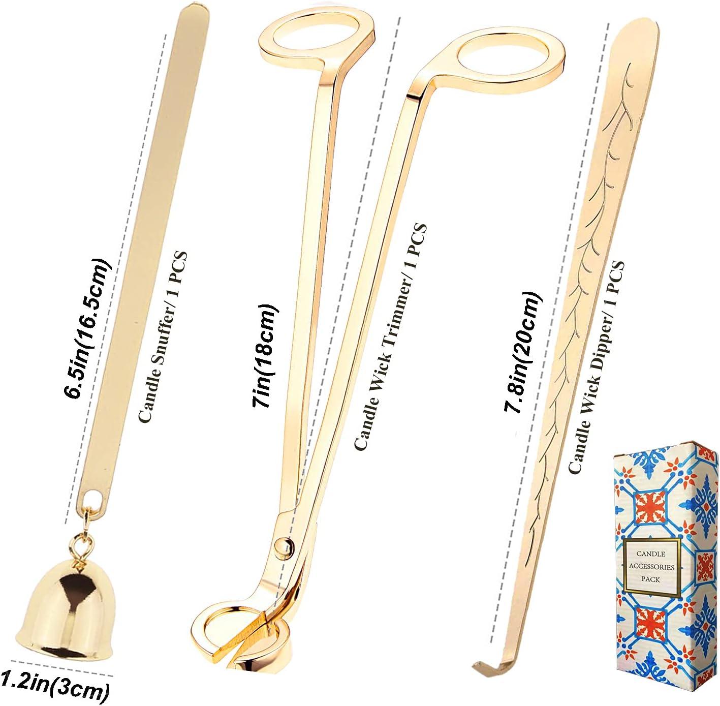 Kerzenl/öscher Dochtschere Edelstahl Wick Wickelschneider BSTCAR 3 St/ück//Set Kerzenzubeh/örset Aromatherapie Wachs Pflege Tool Kit