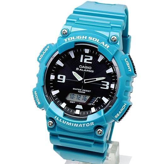 Estándar de Casio Reloj analógico Digital Caballeros estándar Aq-S810Wc-3A Tough Solar uretano Deportes: Amazon.es: Relojes