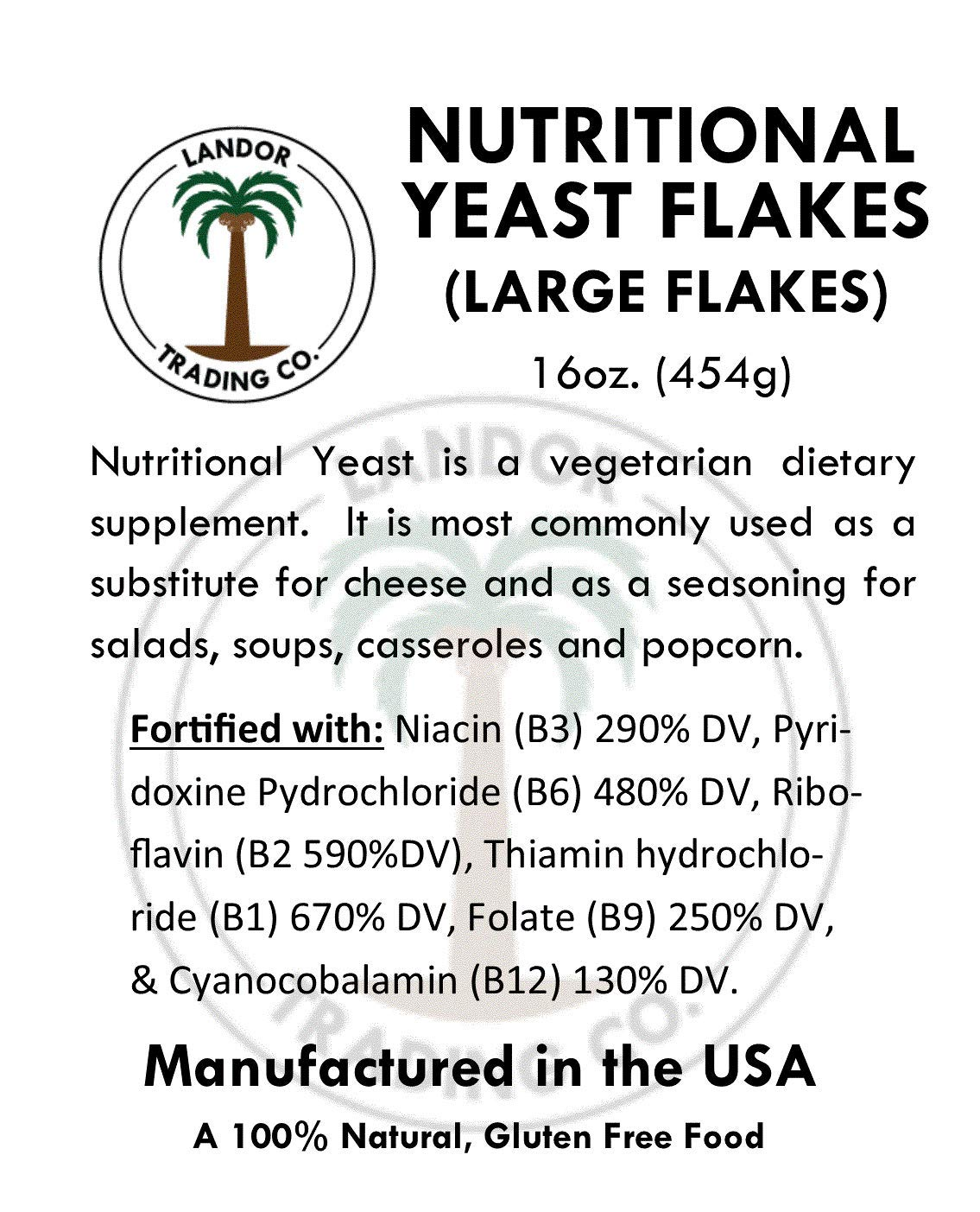 Nutritional Yeast Flakes 1 Pound (16 Ounces) - Vitamin B Fortified by Seaweed Solution (Image #3)