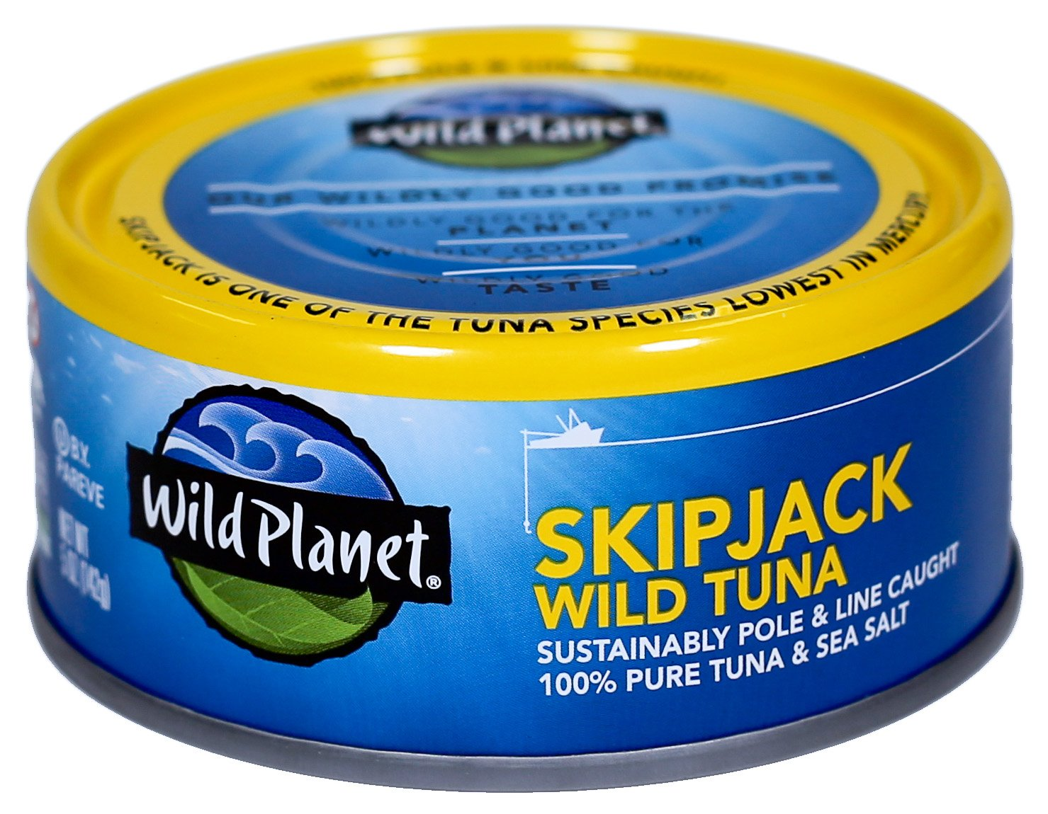 Wild Planet, Wild Skipjack Light Tuna, 5-Ounce. Cans (Pack of 12)