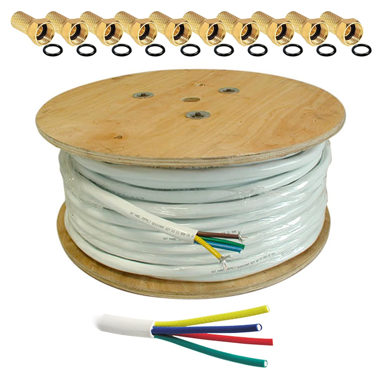 HB Digital 100m Koaxial SAT Kabel CCS Weiß extra: Amazon.de: Elektronik