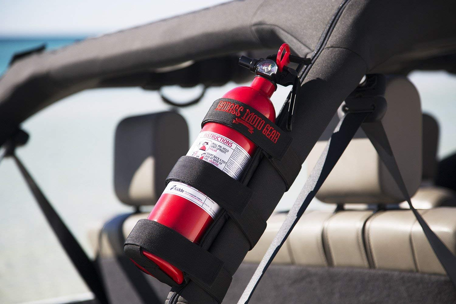 Badass Moto Gear Adjustable Roll Bar Fire Extinguisher Holder for Jeeps – Durable Stitching. Easy Install. for Jeep Wrangler, Unlimited, CJ, JK, TJ, Rubicon, Sahara, Sport. Extinguisher not Included. by Badass Motogear (Image #2)