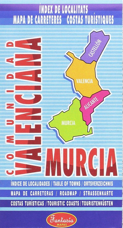 Mapa Comunidad Valenciana Costa.Mapa Comunidad Valenciana Y Murcia 9788415329046 Amazon