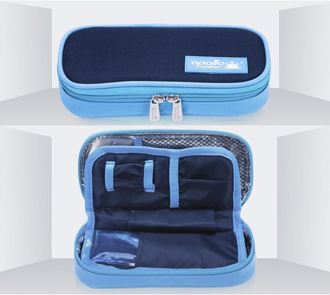 Estuche isotérmico portamedicamentos, para transportar insulina azul oscuro: Amazon.es: Hogar