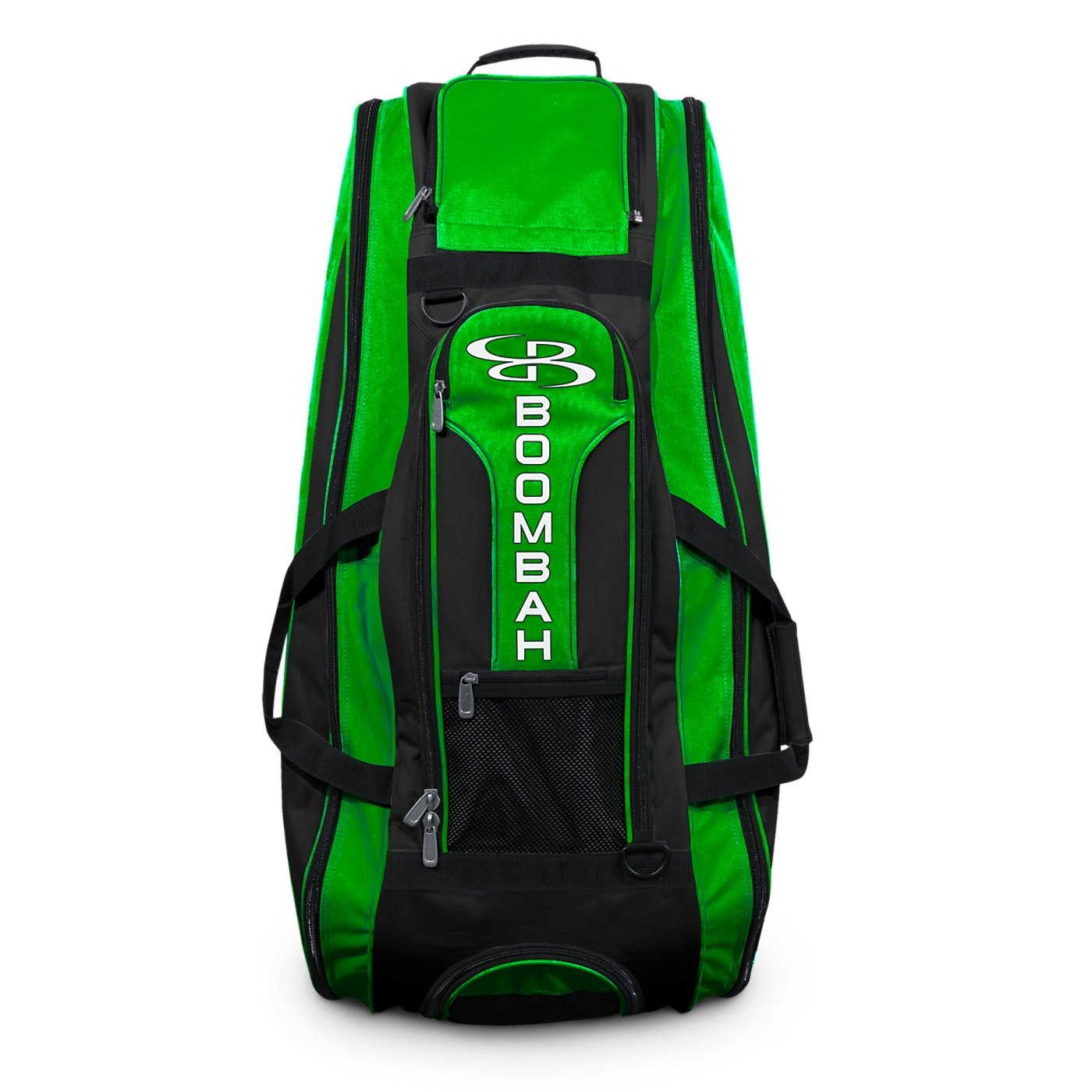 Boombah Beast Baseball/Softball Bat Bag - 40'' x 14'' x 13'' - Black/Lime Green - Holds 8 Bats, Glove & Shoe Compartments by Boombah (Image #3)