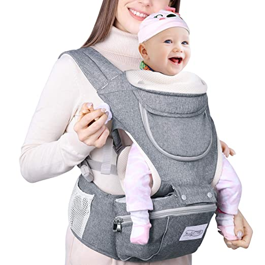 Amazon.com : Baby Carrier 3 in 1 with Hip Seat Infant Carrier MUBYTREE : Baby
