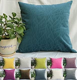 tangdepot solid velvet decorative pillow coverseuro pillow shams super soft velour micro