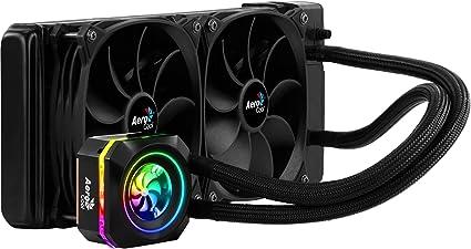 Aerocool L240, refrigeración líquida Halo LED RGB, TDP 400, 2 ventiladores 12cm: Aerocool: Amazon.es: Informática