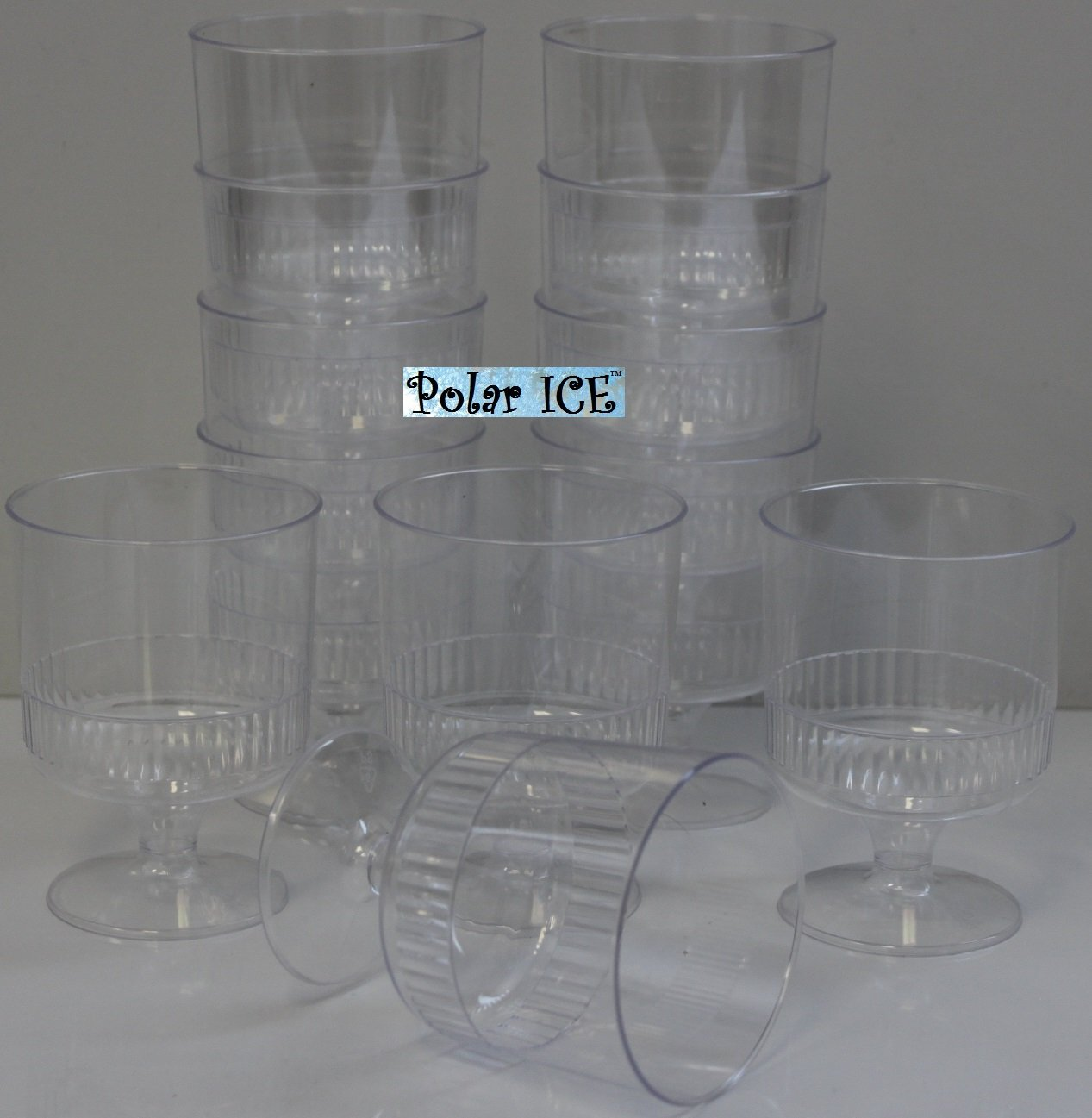 Pedestal Dessert Cups - Beverage, Wine Glasses by Polar Ice