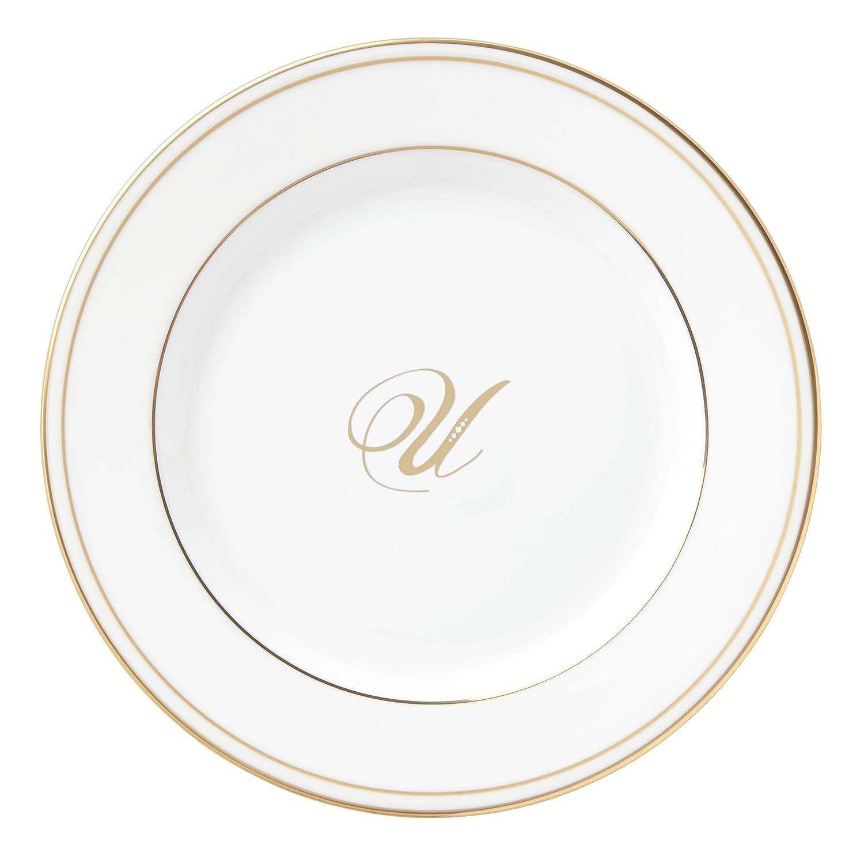 Lenox Federal Gold Script Monogram Dinnerware Dinner Plate R 872418