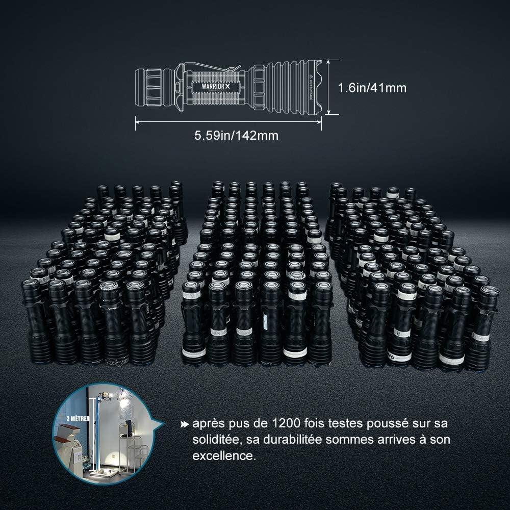 Olight Warrior X/ /Linterna Recargable t/áctica 2000/lumens 560/m Cambio magn/ético USB MCC 1/A Dos configurations de un Uso Caza o Fuerzas de la Orden
