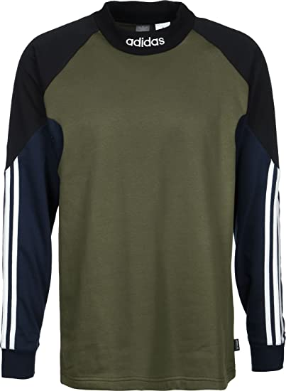 3487644b6 adidas Goalie Crew Sweat Base Green/Black/Collegiate Navy: Amazon.co.uk:  Clothing