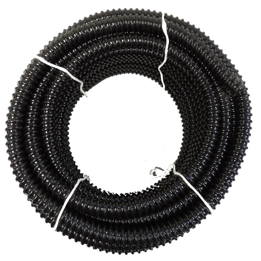 2'' x 100' HydroMaxx® Black UL/US Non Kink Corrugated PVC Water Garden Pond Hose and Tubing