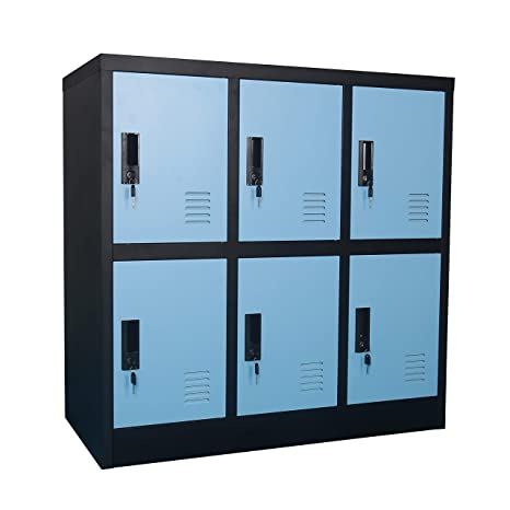 . MECOLOR Metal Kids Locker for Girls Bedroom and Playroom Storage for  Clothes Bags Toys and Book  Blue  6D