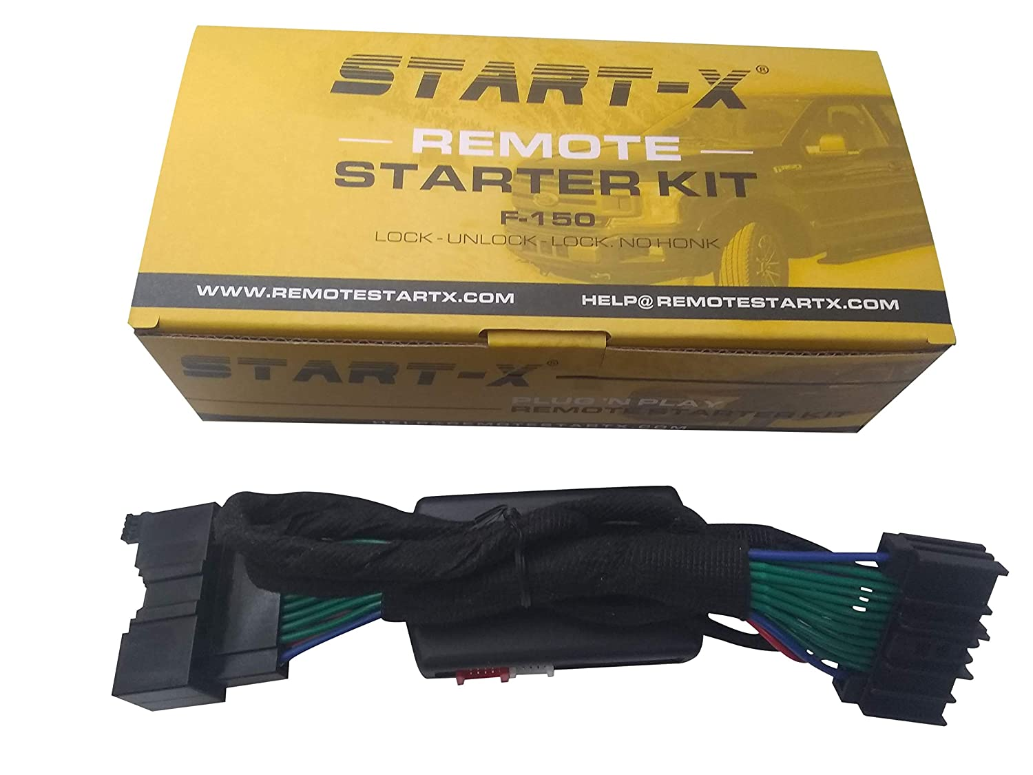 NO HONK-Lock-Unlock-Lock Start-X Ford F-150 2015-2019 Ranger 2019 Remote Start Starter Also Works with Fusion 14-18
