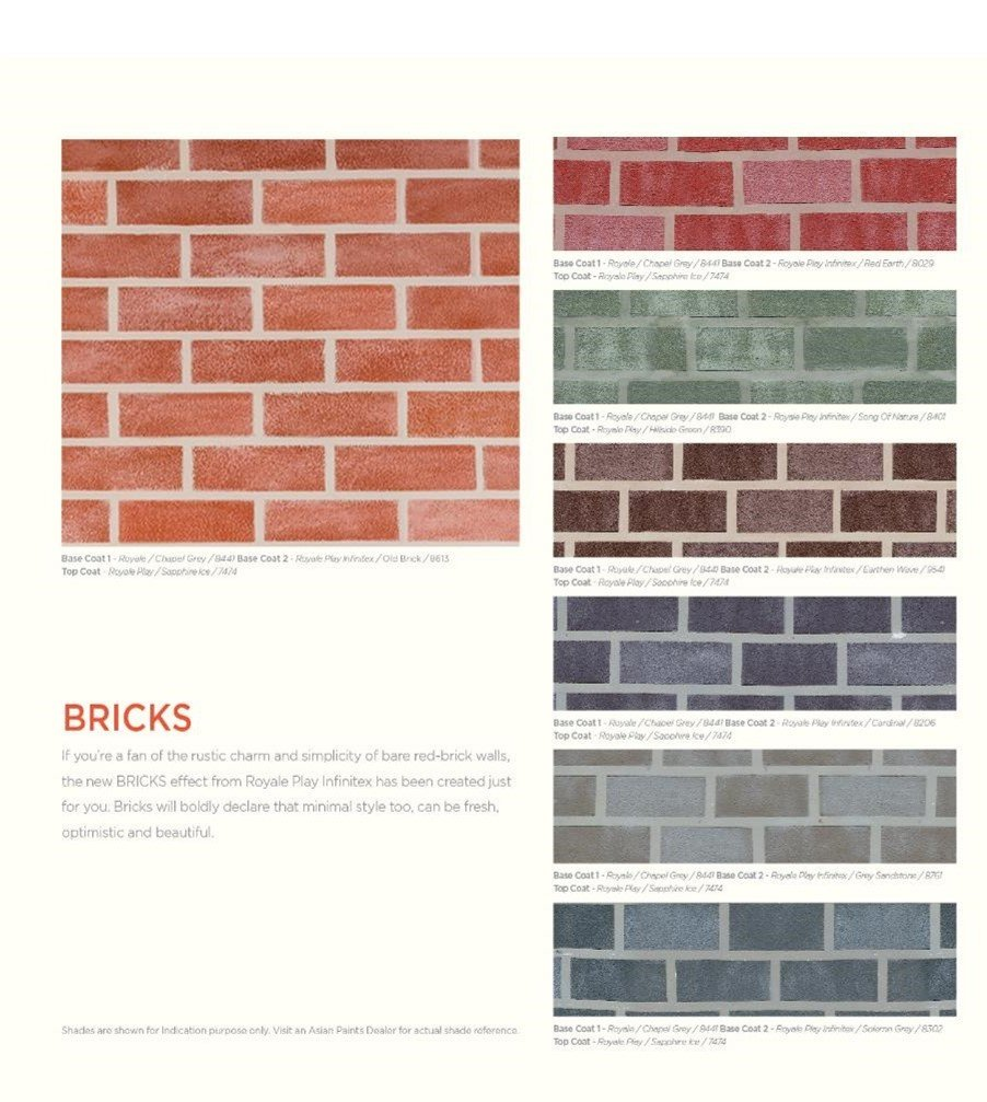 Asian Paints Royale Play Infintex Brick Wall Makeover Package Multicolour Small Amazon In Home Improvement