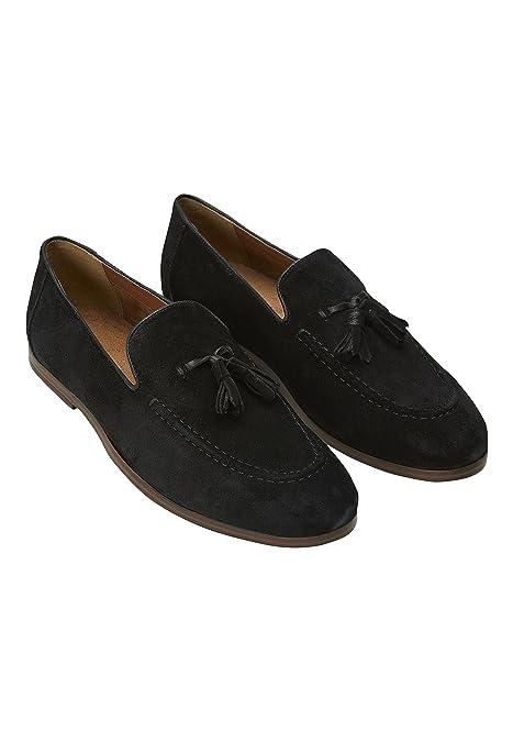 next Hombre Mocasines Borlas Negro 47 EU: Amazon.es: Zapatos y complementos