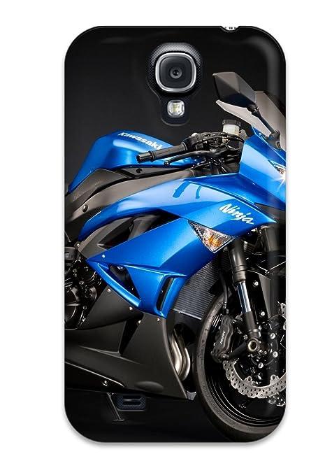 Amazon.com: Perfect Kawasaki Ninja Zx 6r Blue Case Cover ...