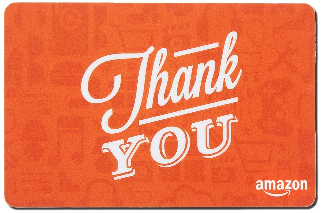 Thank You Icons Design Gift Card in a Mini  Shipping Box