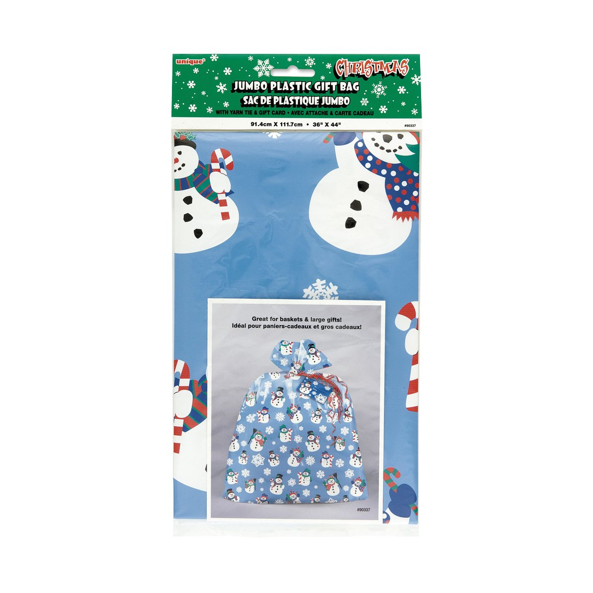 Amazon.com: Plastic Jumbo Snowman Holiday Gift Bag: Kitchen & Dining