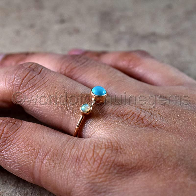 Ladies Turquoise Turquoise Ring Opal Turquoise Ring 1901 Combo Ring Sterling Silver Ladies Opal Peruvian Opal Multi Stone Ring