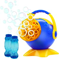 YAHO Automatic Bubble Machine with 2 Bottles of Bubbles Solution Refill