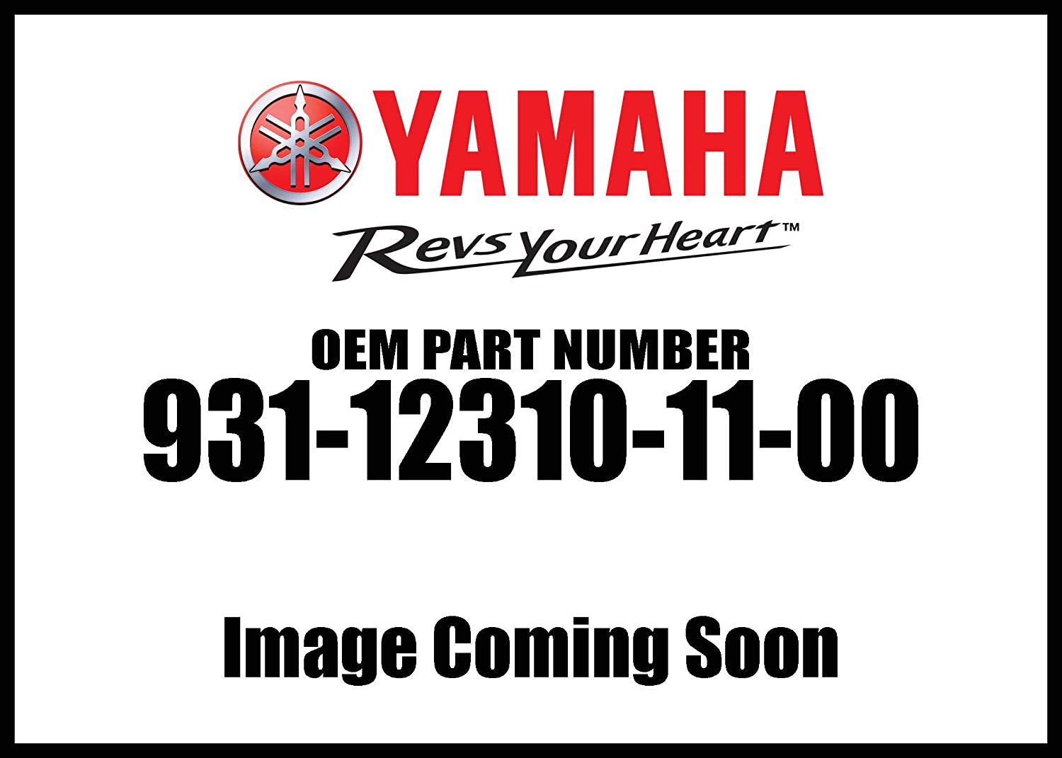 Yamaha 93112-31011-00 OIL SEAL (1UY); 931123101100