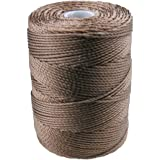 C-LON Bead Cord, Sepia - 0.5mm, 92 Yard Spool