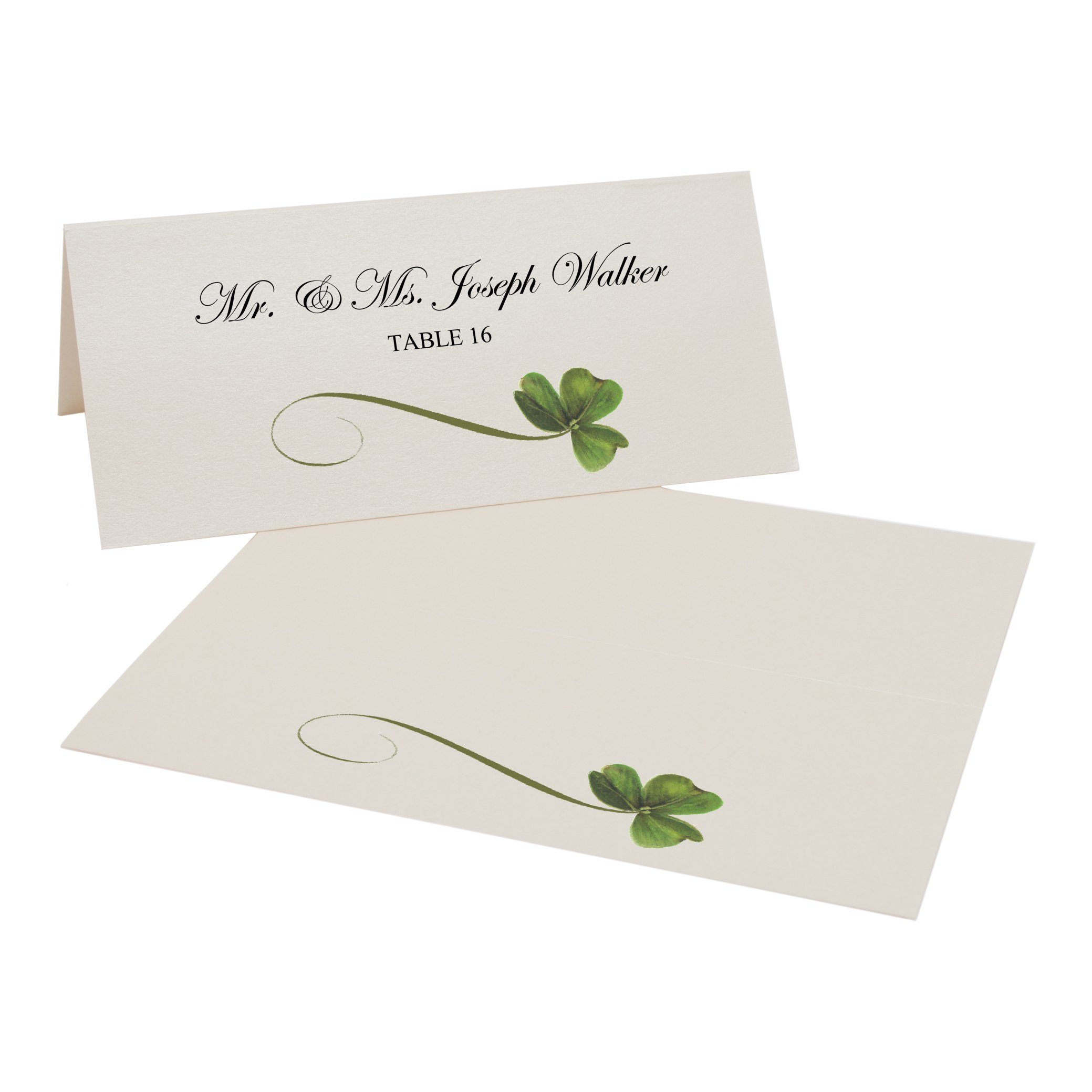 Shamrock Easy Print Place Cards, Champagne, Set of 450 (113 Sheets) by Documents and Designs