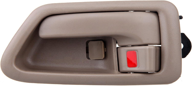 LUJUNTEC Interior Door Handles Driver Passenger Side Replacement for 1997-2001 Toyota Camry Texture Beige 4pcs
