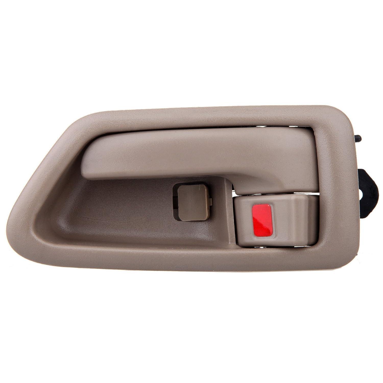 2pcs OCPTY Door Handles Interior Front Rear Driver Passengere Side Replacement fit 1997-2001 Toyota Camry Inside Door Handles Texture Beige