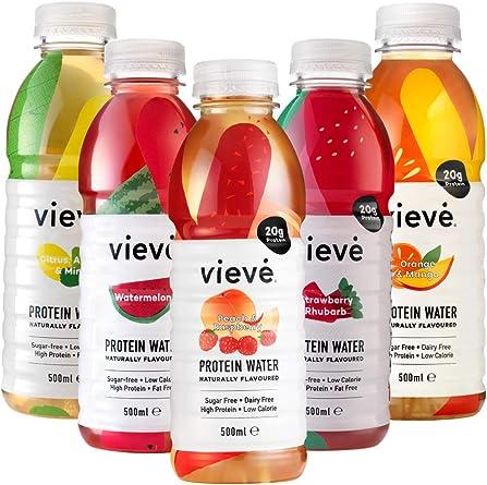 Vieve Agua con Proteína 10x500ml - Paquete de sabores mixtos ...