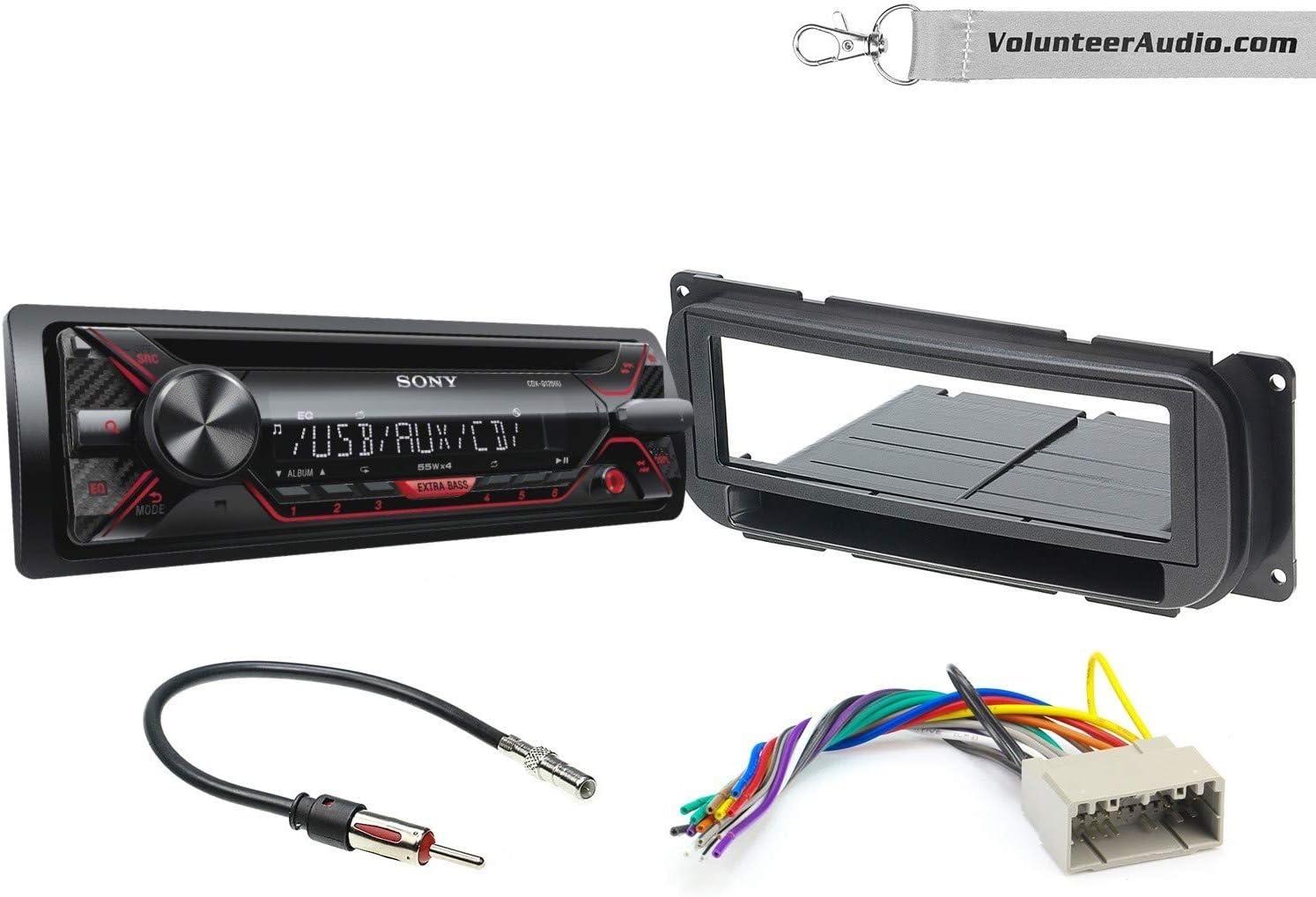 dodge ram stereo wiring sony amazon com sony cdx g1200u single din radio install kit with cd  amazon com sony cdx g1200u single din