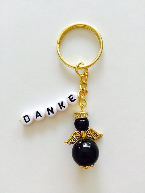 Llavero de ángel de oro con Danke o con nombre ...