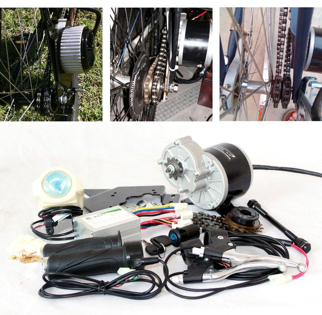 24ボルト36ボルト350ワット電動電動電動ドライブバイク変換キットE-BICYCLEキットe-bikeモーターセット自家製diy電動自転車 [並行輸入品] B077Q5CJHJ 24V350W